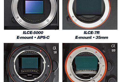 Fotografii legati de brand-ul SONY – ghid de intelegere: E-mount, A-mount…